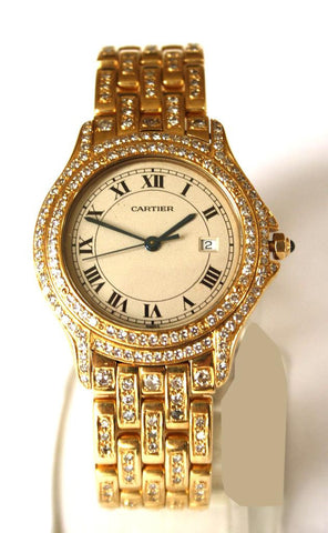 18ct Cougar Diamond Set Cartier