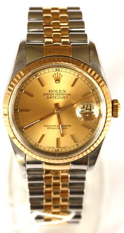 Rolex Gents Bi-Metal Date Just Rolex