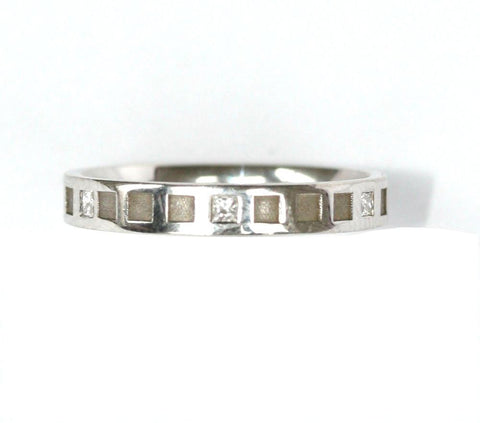 9ct white diamond band