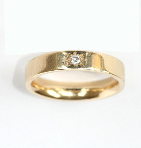 9ct yellow diamond band