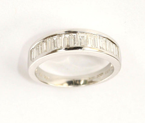18ct white 1/2 eternity .92point baguette