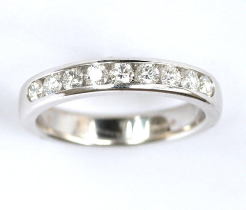 18ct white 3/4ct 1/2 eternity