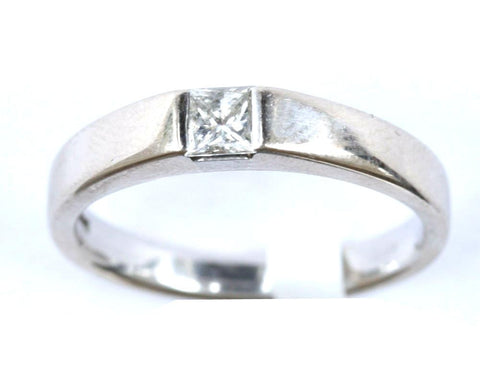 18ct White 1/5ct Solitaire