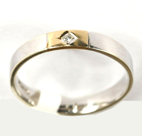 9ct White & Yellow 2 point diamond