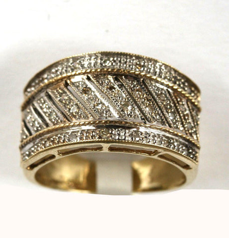 9ct yellow broad band