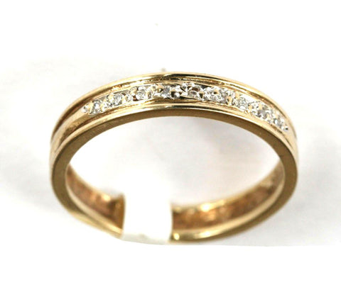 9ct yellow 9stone  band