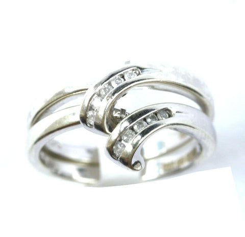 9ct white double diamond rings(0.10points)