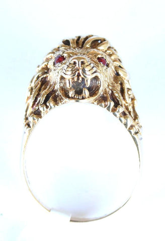 9ct gemset lionshead
