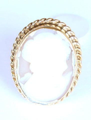 9ct large oval cameo