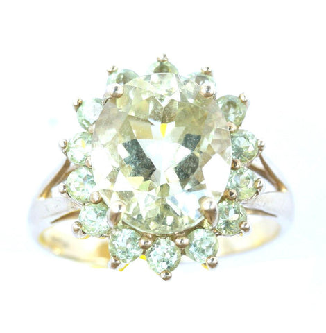 9ct peridot colour cluster