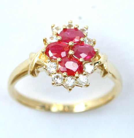 9ct cubic zirconia & ruby