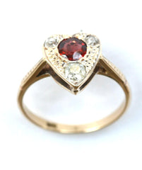 18ct diamond & ruby heart
