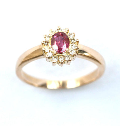 18ct diamond & ruby
