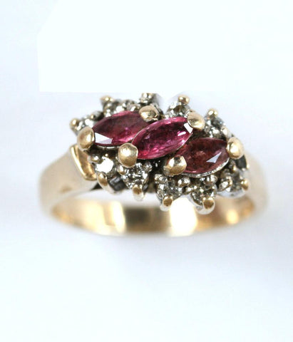 9ct diamond & ruby