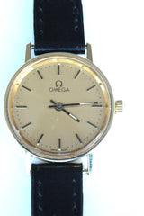Omega 9ct ladies leather strap