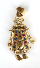9ct gemset clown