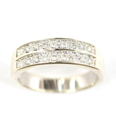 9ct 2 row diamond[white gold]