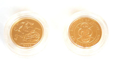 2000 Gold Proof Sovereign 2 coin set