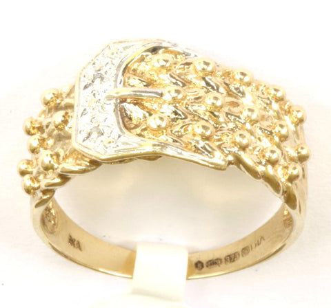 9ct Diamond Chip Buckle