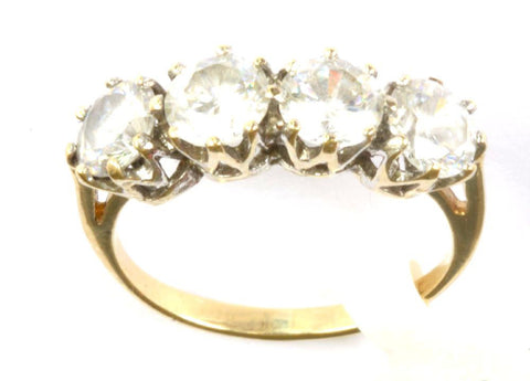 9ct 4 Stone Cubic Zirconia Ring