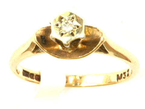 9ct Diamond Chip Solitaire
