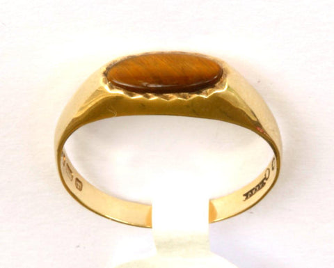 9ct Ladies Tigers Eye