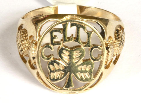 9ct Celtic Crest With Thistle Shoulders
