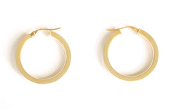 9ct Plain Hoops