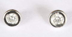 18ct White & Yellow Studs(approx 1/5ct each)
