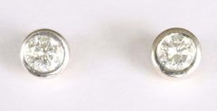 18ct White & Yellow Studs(approx 1/4ct each)