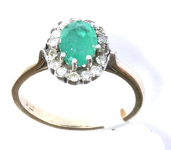 9ct Diamond & Emerald (Emerald 21/2ct)