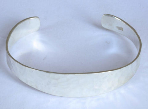Silver Double Twist Torque Bangle