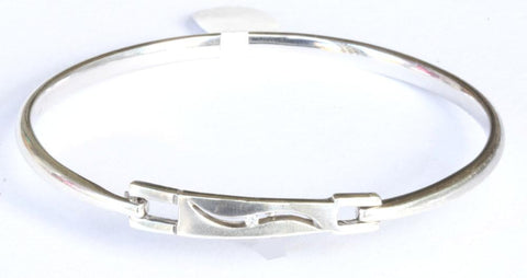 Silver Diamond Front Clip Bangle
