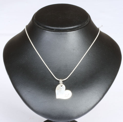 Silver Snake Chain with Heart Pendant