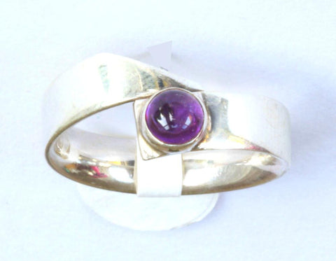 Silver Purple Stone Band