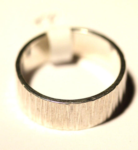 Silver Patterned Band