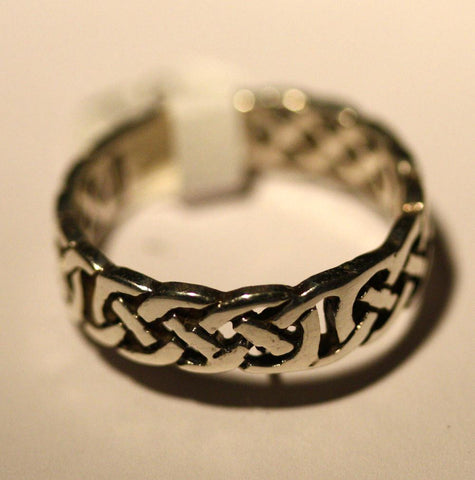 Silver Celtic Design Band