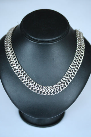 Silver Double Row Necklate