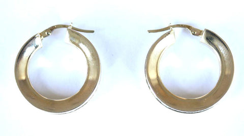 9ct Small Cubic Zirconia Hoops