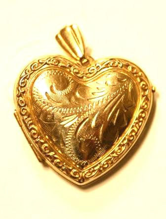 Gold Heart Shaped Locket