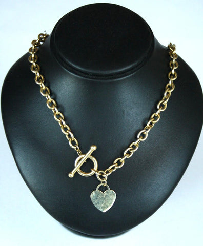 9ct T-Bar Style Bracelet & Chain Set