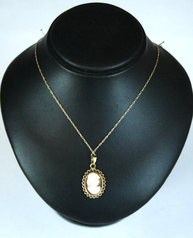 9ct Twist Chain & Cameo