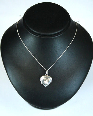 Silver Fine Chain & Teddy Bear Locket