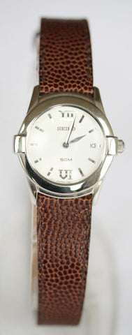 New Ladies Seiko With Leather Strap