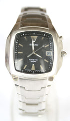 New Gents Seiko Stainless Steel Kinetic