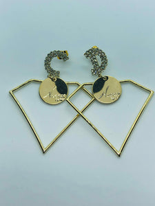 CHRISTIAN DIOR  EARRINGS - Hustla Boutique