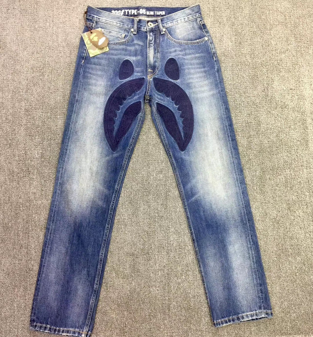 BAPE DENIM JEANS - Hustla Boutique