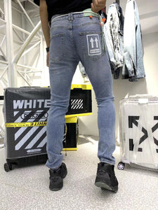 OFF WHITE DENIM JEANS - Hustla Boutique