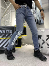 Load image into Gallery viewer, OFF WHITE DENIM JEANS - Hustla Boutique