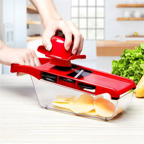Mandoline Slicer Vegetable Cutter/Dicer with Stainless Steel Blade - Simple Little Life Hacks